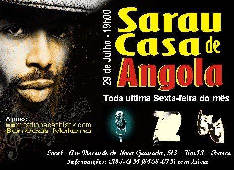 Sarau na Casa de Angola - Divulgação